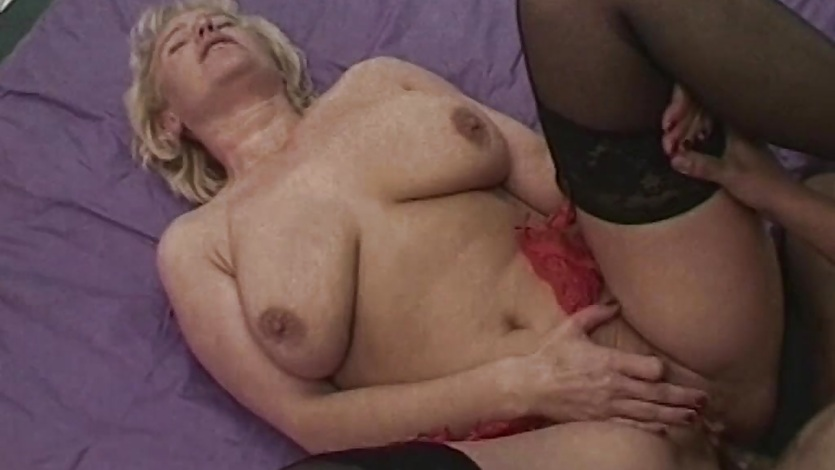 Blonde Busty Mature Fisted Fucked By Three Men