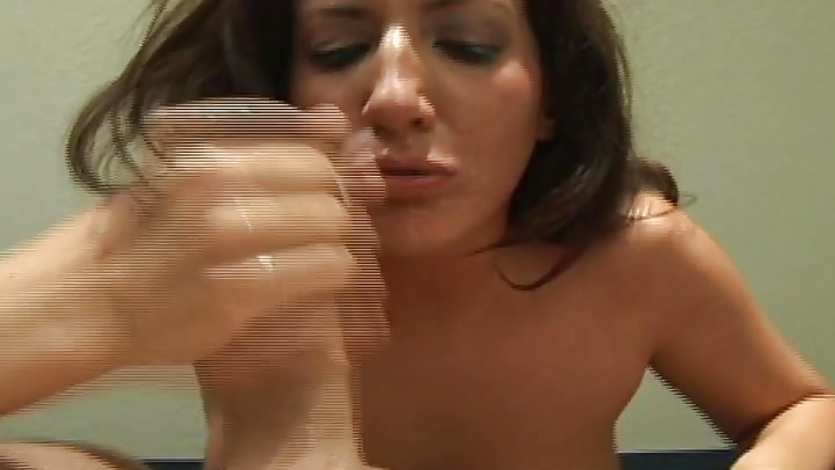 Blowjob From The Ambitious Teen Cocksucker