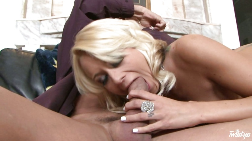 Brandy Blair takes her lover's throat digger down deep until she chokes