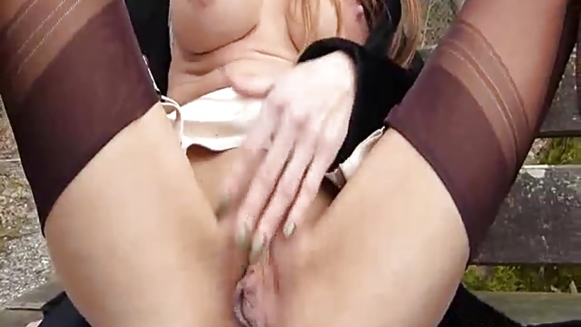 Brutally fisting his hot wife at a public park
