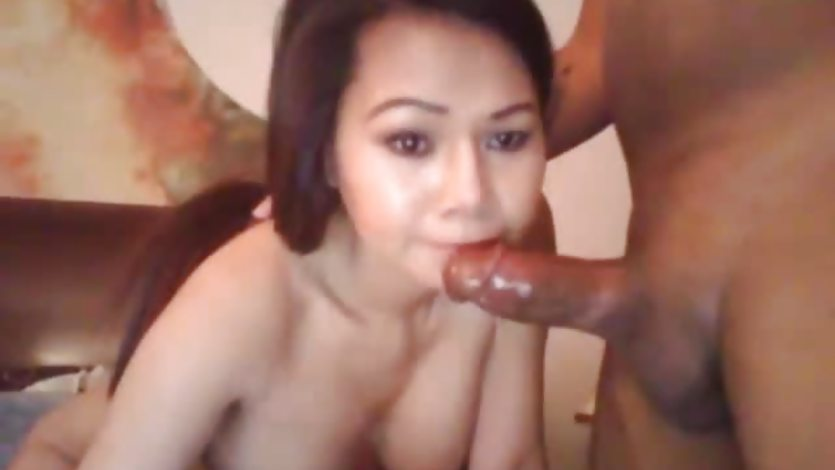 Busty Asian Wife Swallows