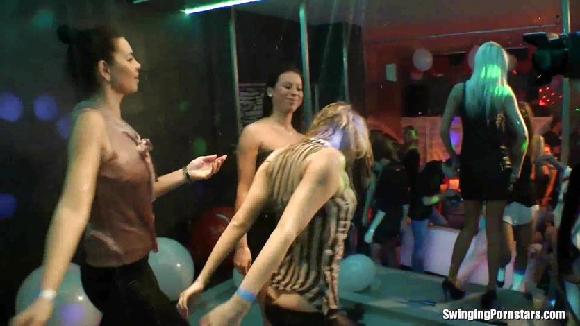 Club babe dancing erotically