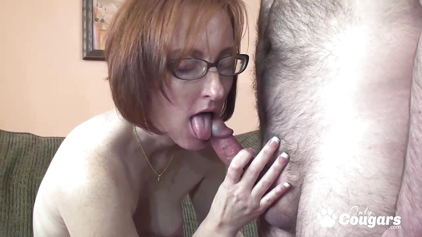 Cute milf jumping on dick and gets big facial
