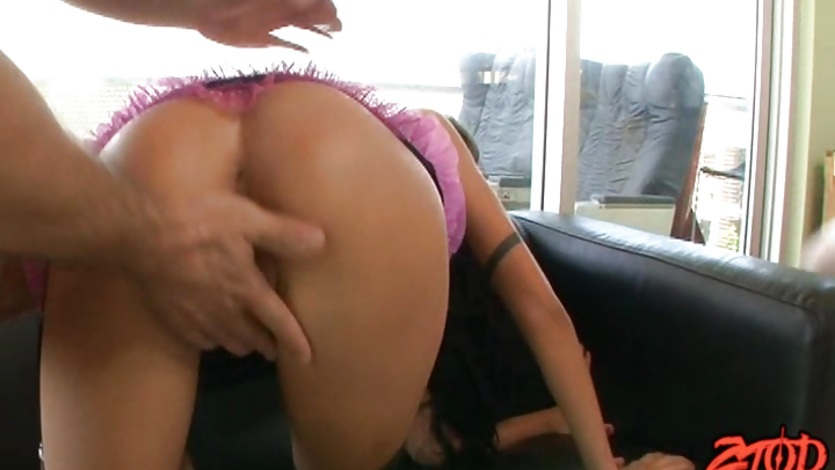 Faye Runaway and Micah Moore fuck a giant white cock
