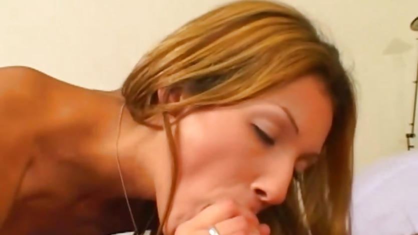 Nympho Kathleen Kruz gagging on a big dick then being banged hard