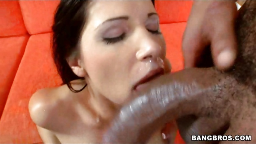Rebecca Linares gets an eyeful of squirting hot cum