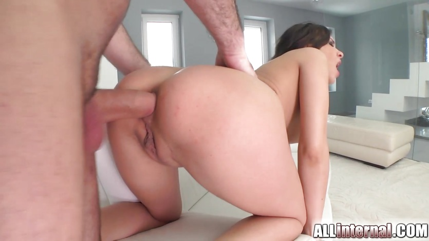 Russian cutie squirts big and gets ass stuffed