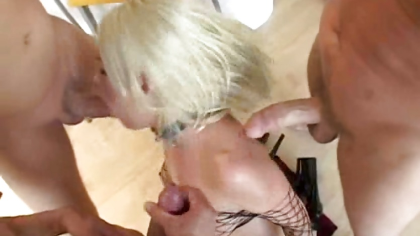Sexy slut Missy Monroe loves deep throating stiff cocks till she cokes on cum.