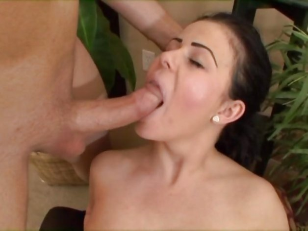 Thick cock blowjob action