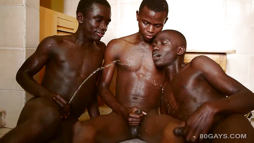 Black Twinks Kinky Gay Threesome