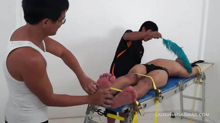 Gay Asian Twink Lance Racked and Tickled