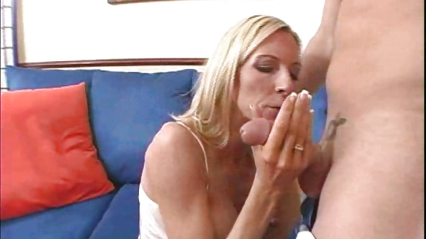 Emma Starr gets her big tits licked and a deep throat blowjob