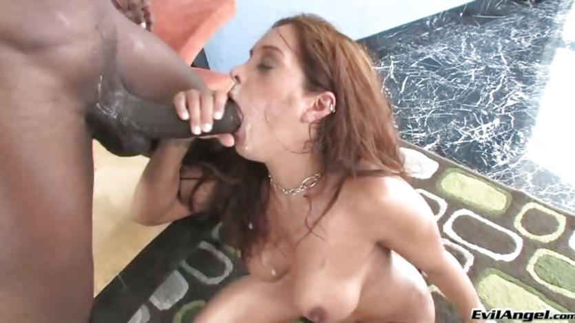 Francesca Le getting fill with white cumshot