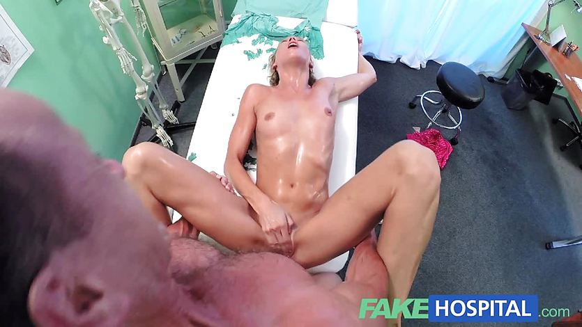 FakeHospital Slim blonde gets creampied in the toilet