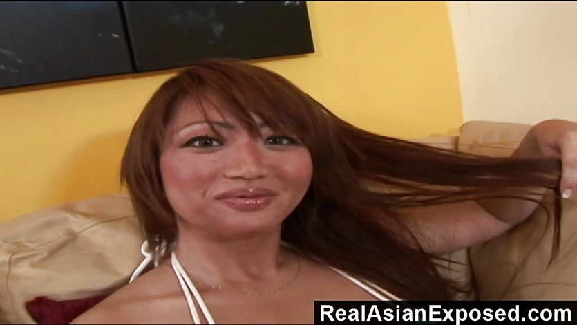 RealAsianExposed Bigboobed Asian babe is